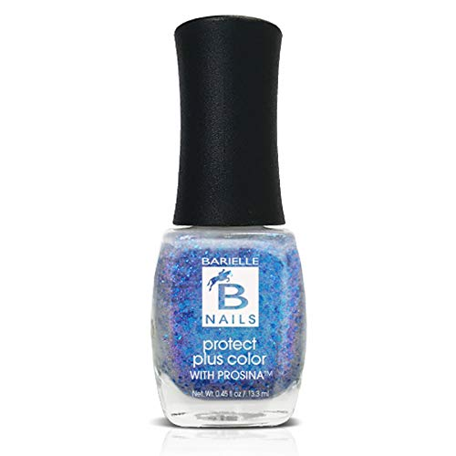 Shooting Star (A Metalic Blue/Purple Glitter) - Protect+ Nail Color w/ Prosina - Barielle - America's Original Nail Treatment Brand