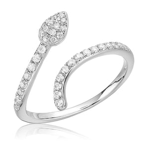 Diamond Snake Ring