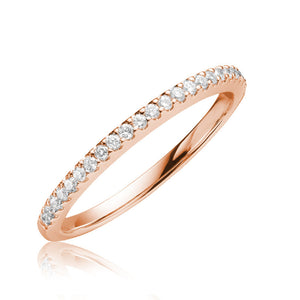 Diamond semi eternity ring