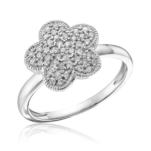 Diamond Pave flower ring