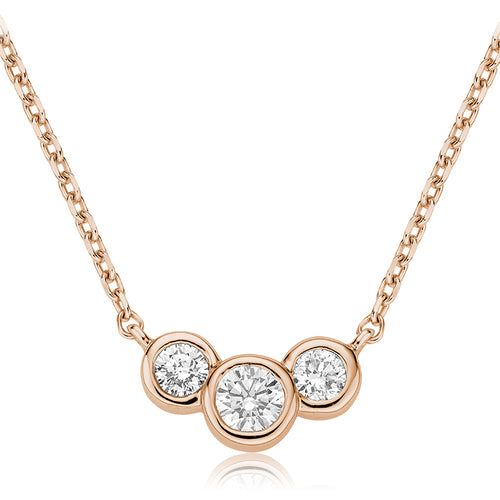 Diamond Trinity Bezel Necklace