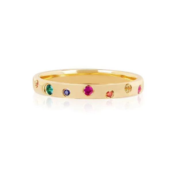 Multicolor Gemstones Band