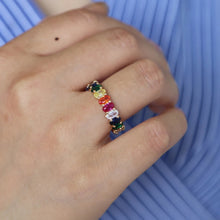 Load image into Gallery viewer, Multicolor eternity ring