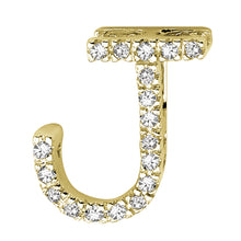 Load image into Gallery viewer, Diamond Initial Pendant Yellow