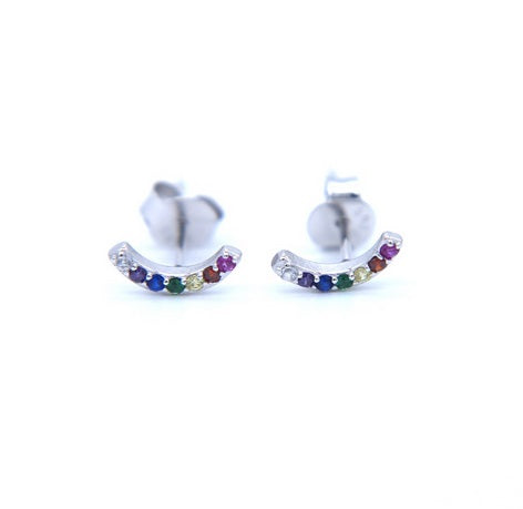 Multicolor Arc shape Studs