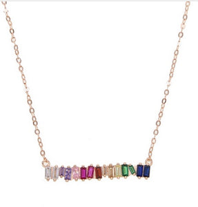 Multicolor Gemstones Baguettes Bar