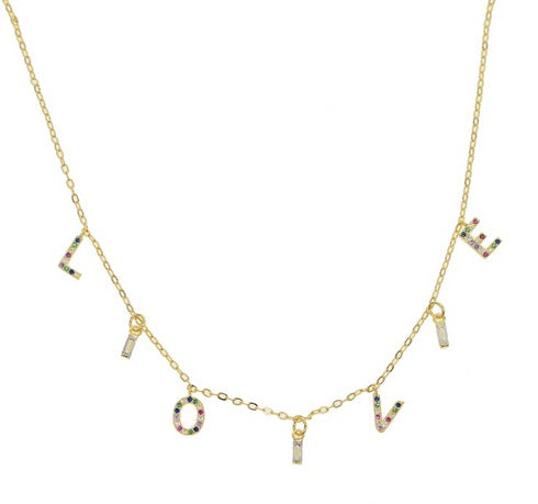 Multicolor LOVE Necklace