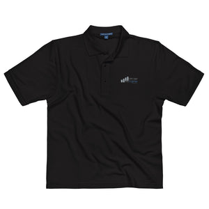 Off Day Trainer Black Embroidered Polo Shirt