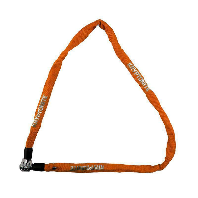 Kryptonite Keeper 411 Combo Integrated Chain Lock-Bicycle Locks-Kryptonite-Orange-Voltaire Cycles of Highlands Ranch Colorado