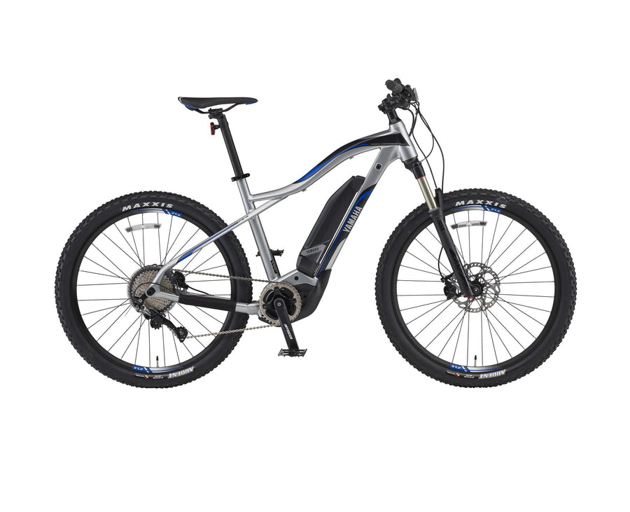 "Yamaha YDX TORC eMTB-Electric Bicycle-Yamaha-Medium (17"")-Quicksilver / Team Yamaha Blue-Voltaire Cycles of Highlands Ranch Colorado"