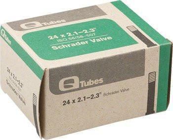 "Q-Tubes 24"" x 2.1-2.3"" Schrader Valve Tube 180g *Low Lead Valve*-Bicycle Tube-Qtubes-Voltaire Cycles of Highlands Ranch Colorado"