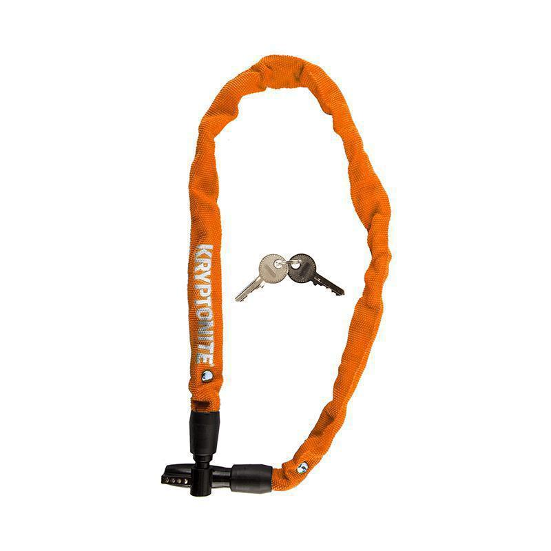 Kryptonite Keeper 411 Key Integrated Chain Lock-Bicycle Locks-Kryptonite-Orange-Voltaire Cycles of Highlands Ranch Colorado