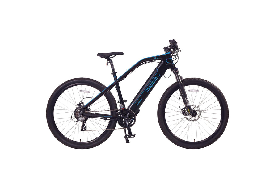 "Magnum Summit 27"" eMTB Electric Bicycle-Electric Bicycle-Magnum-Blue-Voltaire Cycles of Highlands Ranch Colorado"