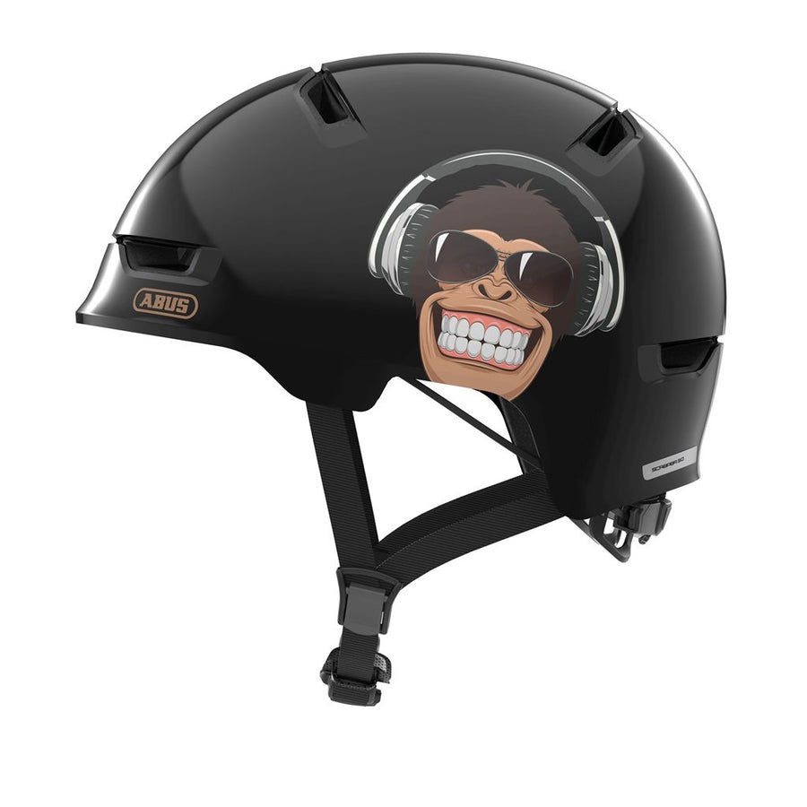 ABUS Scraper Kid 3.0 Helmet-Helmets-Abus-Medium 54-58 cm-Monkey-Voltaire Cycles of Highlands Ranch Colorado