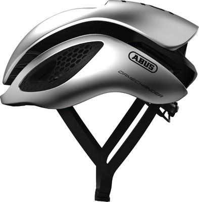 ABUS Aero Helmet GameChanger-Helmets-Abus-Gleam Silver-Small 51-55 cm-Voltaire Cycles of Highlands Ranch Colorado