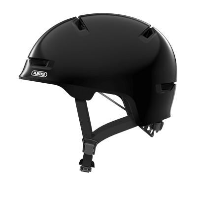 ABUS Scraper Kid 3.0 Helmet-Helmets-Abus-Medium 54-58 cm-Shiny Black-Voltaire Cycles of Highlands Ranch Colorado