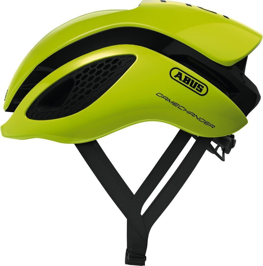ABUS Aero Helmet GameChanger-Helmets-Abus-Neon Yellow-Small 51-55 cm-Voltaire Cycles of Highlands Ranch Colorado