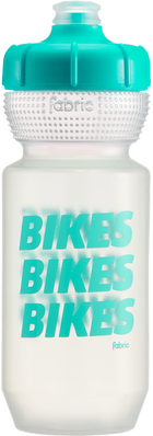 Fabric Gripper Bike Bottle-Fabric-Clear w/ Mint 600ml-Voltaire Cycles of Highlands Ranch Colorado
