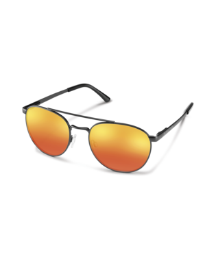 Suncloud Motorist Sunglasses-eyewear-Suncloud-Matte Black || Polarized Red Mirror-Voltaire Cycles of Highlands Ranch Colorado