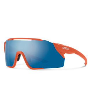 Smith Attack MAG MTB Sunglasses-Smith Optics-Matte Red Rock || ChromaPop Blue Mirror-Voltaire Cycles of Highlands Ranch Colorado