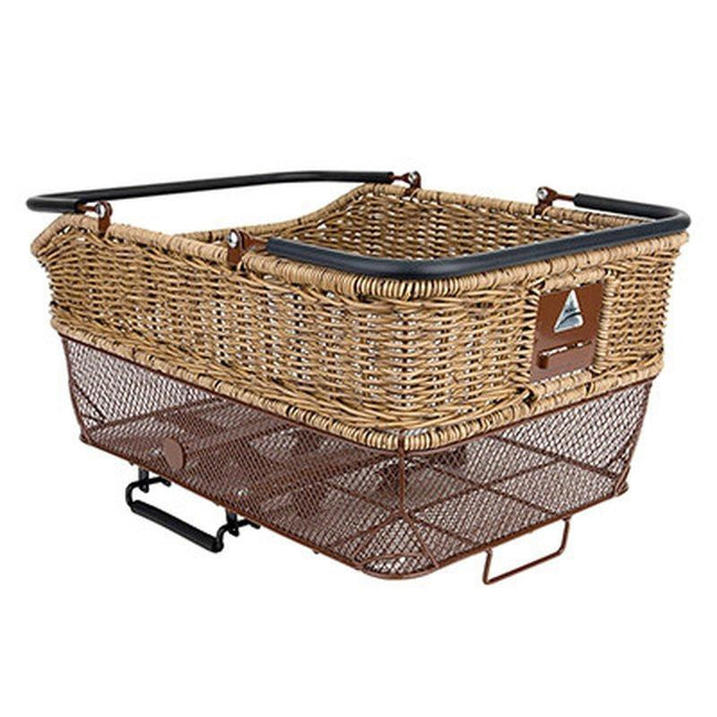 Axiom Wicker Rear Mount Bicycle Basket-Bicycle Baskets-Axiom-Voltaire Cycles of Highlands Ranch Colorado