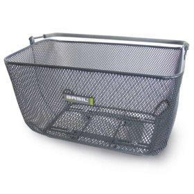 Basil Catu Titanium Rear Bicycle Basket-Bicycle Baskets-Basil-Voltaire Cycles of Highlands Ranch Colorado