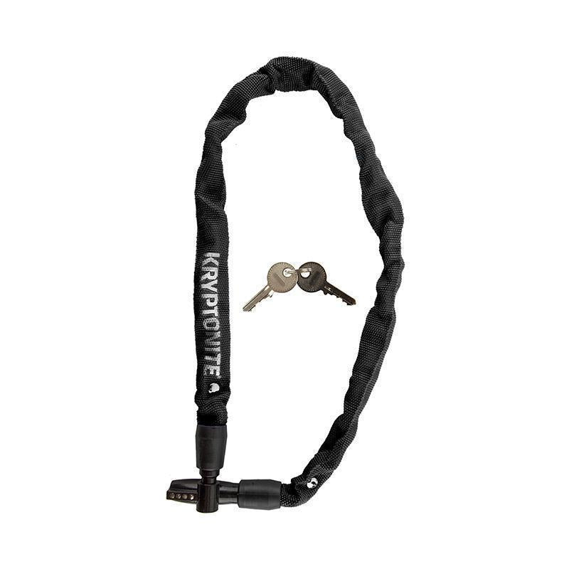 Kryptonite Keeper 411 Key Integrated Chain Lock-Bicycle Locks-Kryptonite-Black-Voltaire Cycles of Highlands Ranch Colorado
