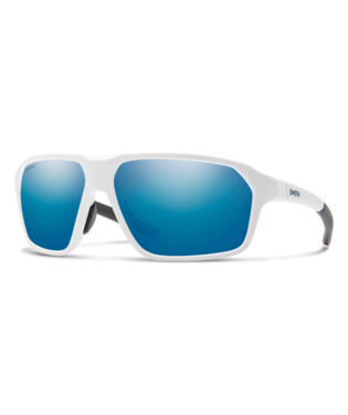 Smith Pathway Sunglasses-Eyewear-Smith Optics-Matte White || ChromaPop Polarized Blue Mirror-Voltaire Cycles of Highlands Ranch Colorado