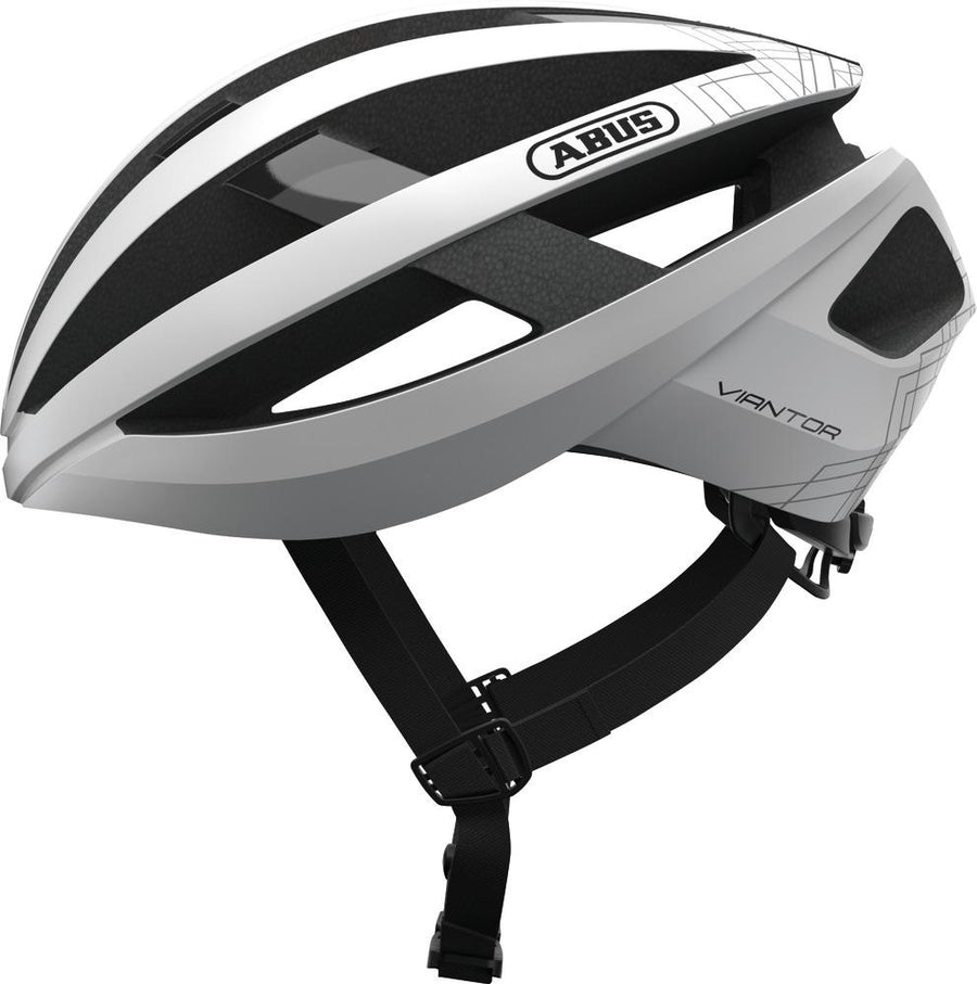 ABUS Road Helmet Viantor-Helmets-Abus-Small 51-55 cm-Polar White-Voltaire Cycles of Highlands Ranch Colorado