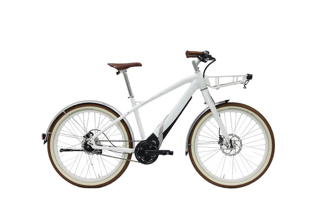 FLOOR MODEL Bulls eURBAN Sturmvogel EVO Street Electric Bicycle-Electric Bicycle-Bulls-46cm-White-Voltaire Cycles of Highlands Ranch Colorado