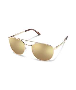 Suncloud Motorist Sunglasses-eyewear-Suncloud-Gold || Polarized Sienna Mirror-Voltaire Cycles of Highlands Ranch Colorado