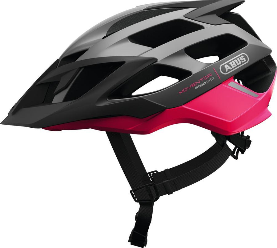 ABUS Mountainbike Helmet Moventor-Helmets-Abus-Medium 52-57 cm-Fuchsia Pink-Voltaire Cycles of Highlands Ranch Colorado