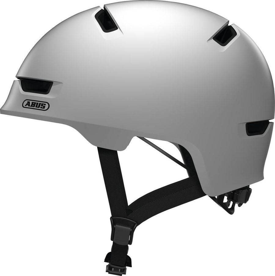ABUS Scraper 3.0 Helmet-Helmets-Abus-Medium 54-58 cm-Polar Matte White-Voltaire Cycles of Highlands Ranch Colorado