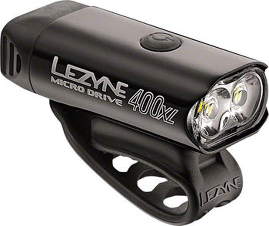 Lezyne Micro Drive 400XL, 400 Lumen USB Rechargeable Headlight-Bicycle Lights-Lezyne-Voltaire Cycles of Highlands Ranch Colorado