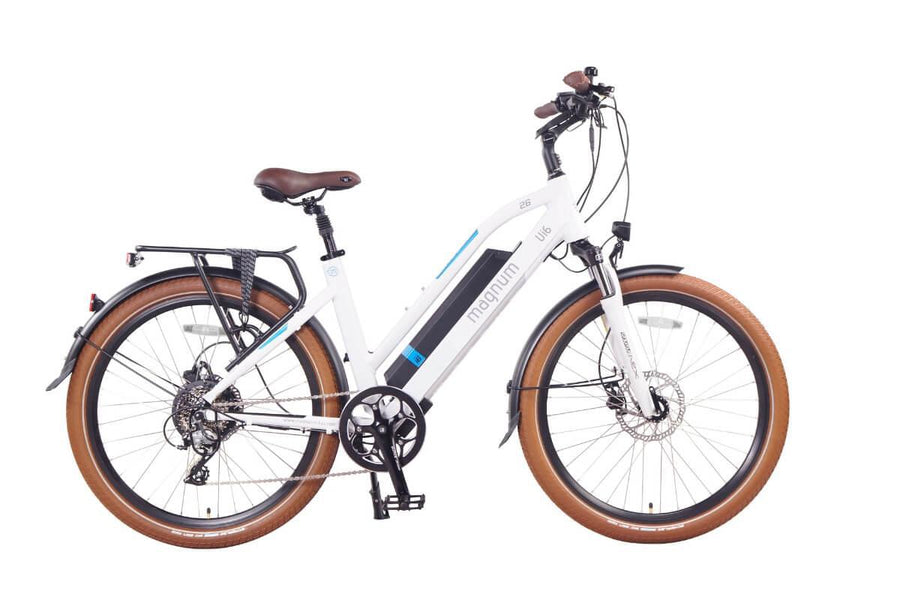 Magnum Ui6 Electric Bike-Electric Bicycle-Magnum-White-Voltaire Cycles of Highlands Ranch Colorado