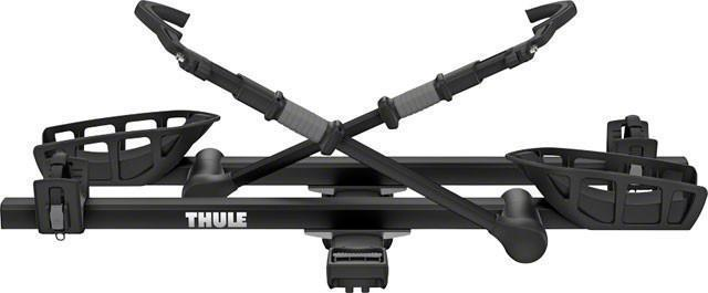 "Thule 9034XTB T2 Pro XT 2"" Hitch Rack: 2-Bike, Black-Bicycle Automobile Carriers-Thule-Voltaire Cycles of Highlands Ranch Colorado"