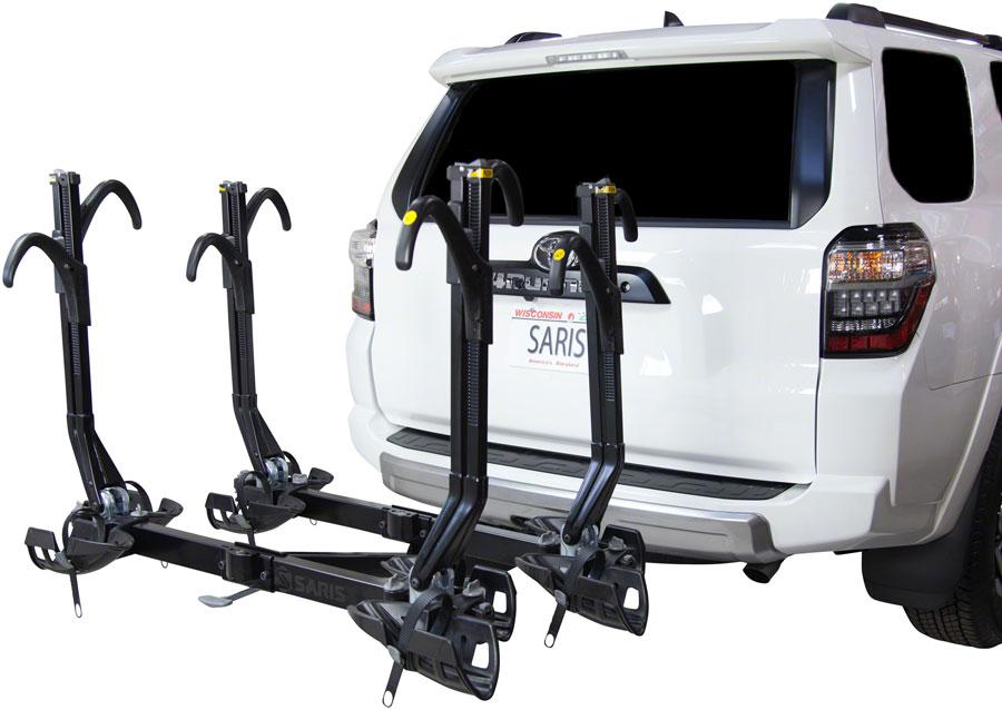 "Saris SuperClamp EX Hitch Rack: 4 Bike, 2"" Receiver-Bicycle Automobile Carriers-Saris-Voltaire Cycles of Highlands Ranch Colorado"