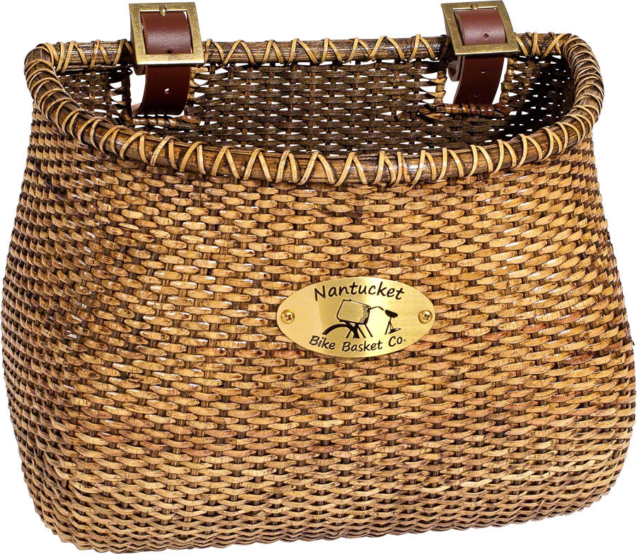 Nantucket Bike Basket Co Lightship Basket Classic Shape-Bicycle Baskets-Nantucket Bike Basket Co-Stained-Voltaire Cycles of Highlands Ranch Colorado