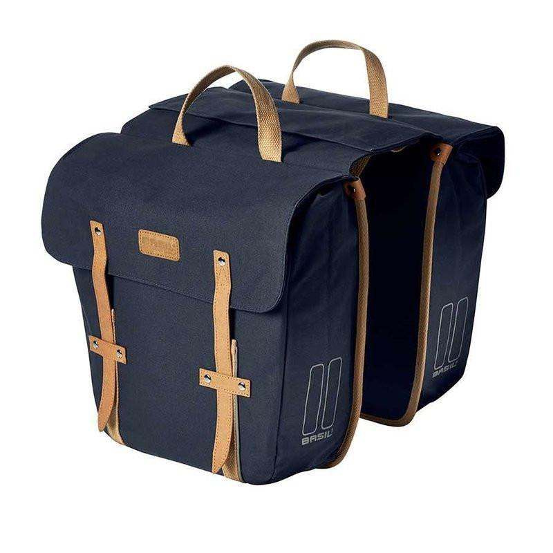 Basil Portland Double Bag Bicycle Panniers-Bicycle Panniers-Basil-Dark Blue-Voltaire Cycles of Highlands Ranch Colorado