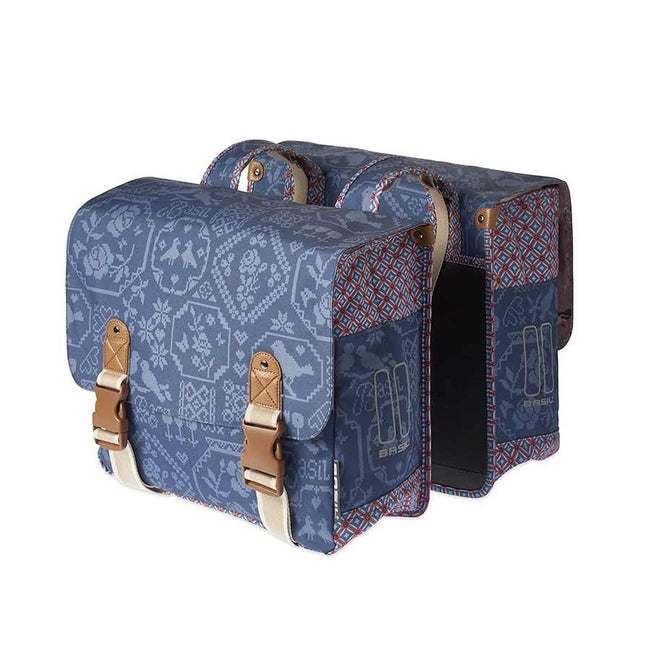 Basil Boheme Bicycle Panniers-Bicycle Panniers-Basil-Indigo-Voltaire Cycles of Highlands Ranch Colorado