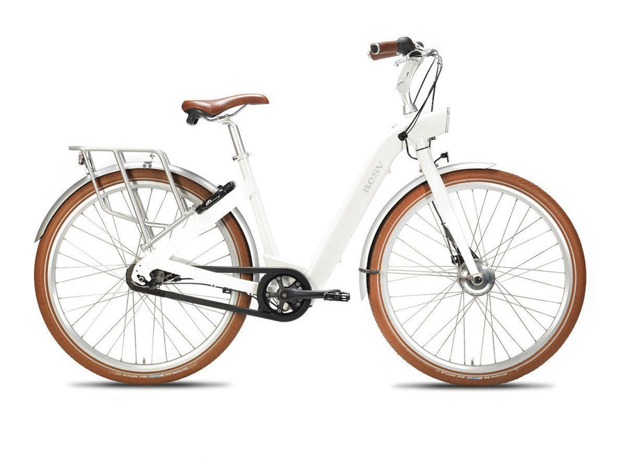 BESV CF1 700c Electric Bicycle-Electric Bicycle-BESV-White-Voltaire Cycles of Highlands Ranch Colorado