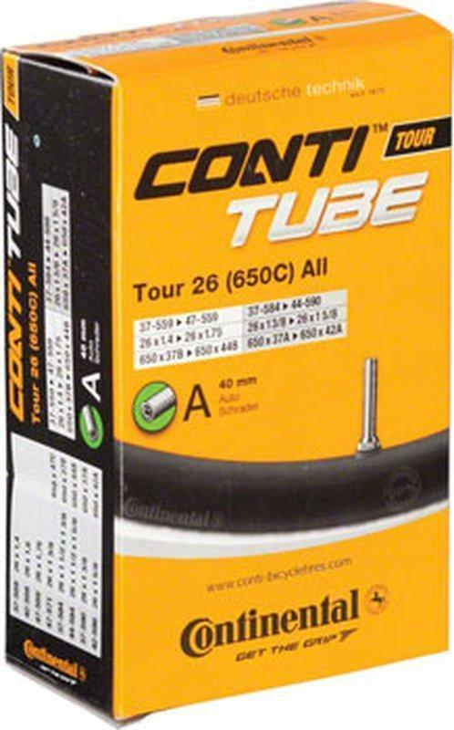 Continental Tour 26 x 1.25 - 1.75 40mm Schrader Valve Tube-Bicycle Tube-Continental-Voltaire Cycles of Highlands Ranch Colorado
