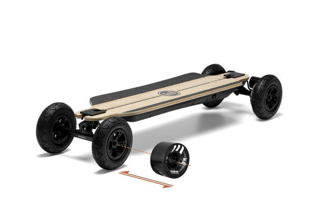 Evolve Bamboo GTR 2in1 Skateboard-Electric Skateboard-EVOLVE-Evolve GTR 97mm 76a Black Wheels-Voltaire Cycles of Highlands Ranch Colorado