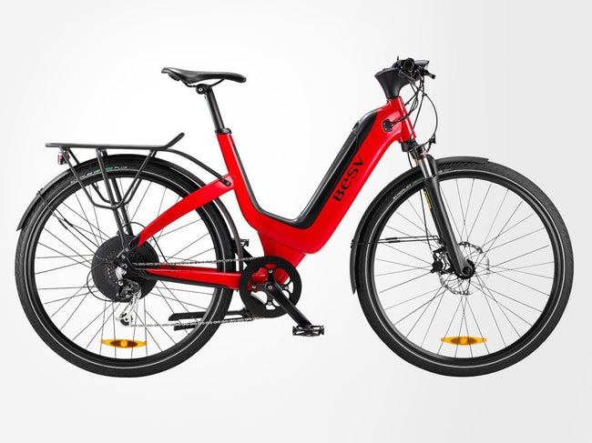 BESV JS1 500w Electric Bicycle-Electric Bicycle-BESV-Red-Voltaire Cycles of Highlands Ranch Colorado