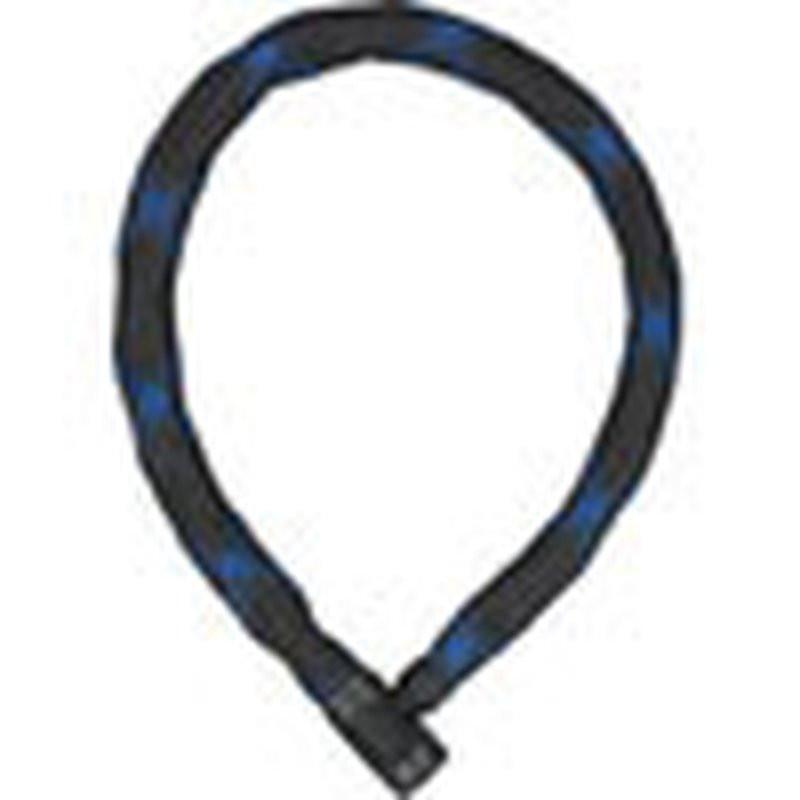 ABUS Keyed Chain Bicycle Lock Ivera 7210 Black/Blue 2 sizes-Bicycle Locks-Abus-85cm-Voltaire Cycles of Highlands Ranch Colorado