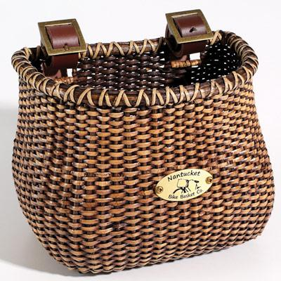 Nantucket Basket Bike Company Basket, Lightship Child Classic Tapered, Stained-Bicycle Baskets-Nantucket Bike Basket Co-Voltaire Cycles of Highlands Ranch Colorado