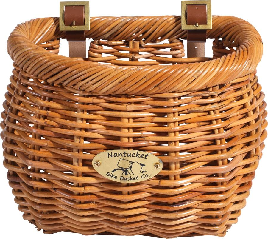 Nantucket Cisco Front Basket, Classic Shape Honey-Bicycle Baskets-Nantucket Bike Basket Co-Voltaire Cycles of Highlands Ranch Colorado