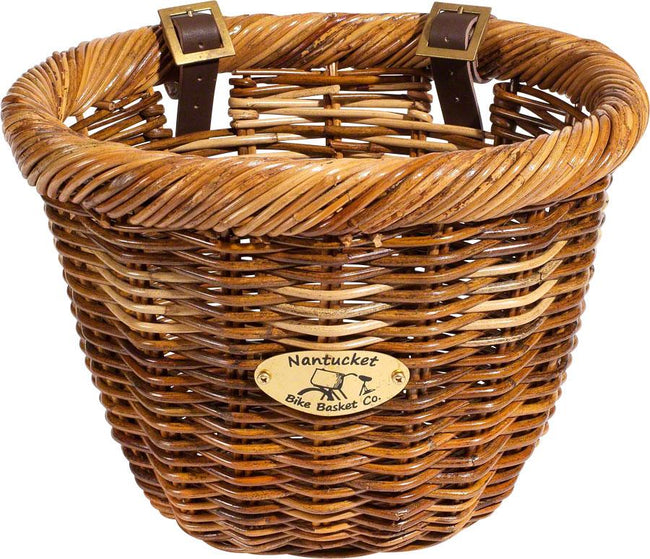 Nantucket Cisco Front Basket, Oval Shape Honey-Bicycle Baskets-Nantucket Bike Basket Co-Voltaire Cycles of Highlands Ranch Colorado
