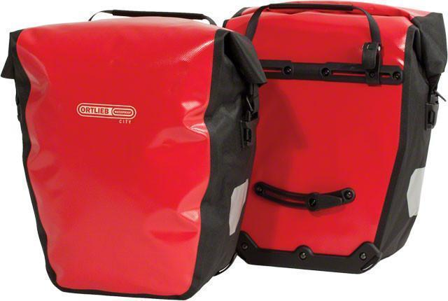 Ortlieb Back-Roller City: Pair Bicycle Panniers-Bicycle Panniers-Ortlieb-Red-Rear Pannier-Voltaire Cycles of Highlands Ranch Colorado