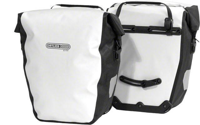 Ortlieb Back-Roller City: Pair Bicycle Panniers-Bicycle Panniers-Ortlieb-White-Rear Pannier-Voltaire Cycles of Highlands Ranch Colorado